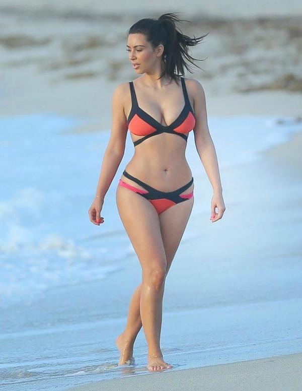 Kim1 Bikini stil: Kim Kardashian