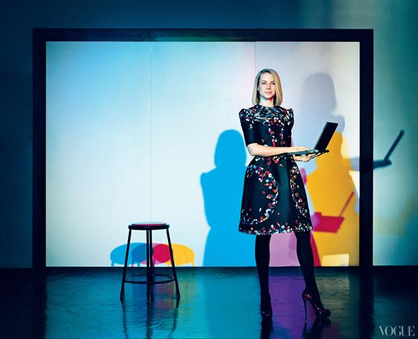 """Slika 3 Marisa Majer je vis e puta bila inspiracija c asopisa Vogue Stil moćnih ljudi: Marissa Mayer, šefica, žena, buduća majka i kraljica """"Silikonske doline"""""""