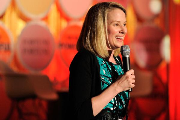 """Slika 4 Prava Yahoo z ena Stil moćnih ljudi: Marissa Mayer, šefica, žena, buduća majka i kraljica """"Silikonske doline"""""""
