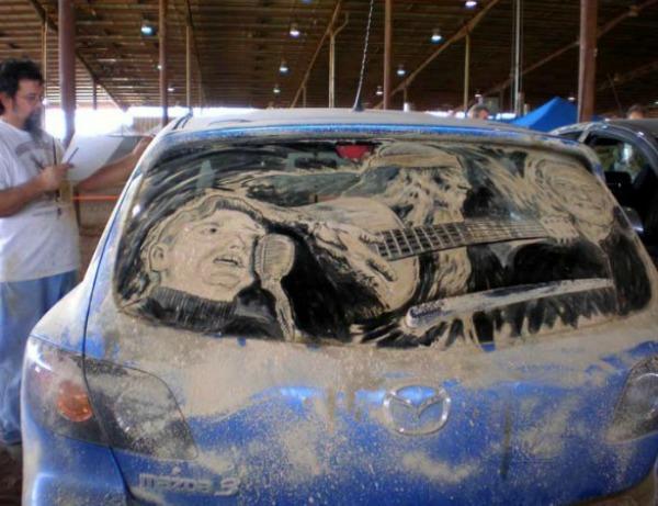 Slika 86 Umetnost na prljavim staklima