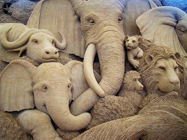 foto 2 Dnevna doza kreativnosti: Skulpture od peska