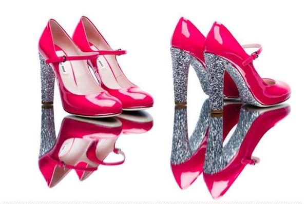 slika 24 Modni zalogaj: Nova kolekcija svetlucavih cipelica Miu Miu