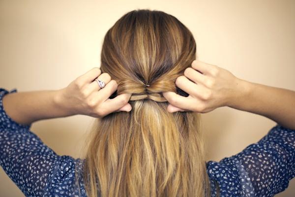 slika 328 Sama svoj frizer: Mašna od kose