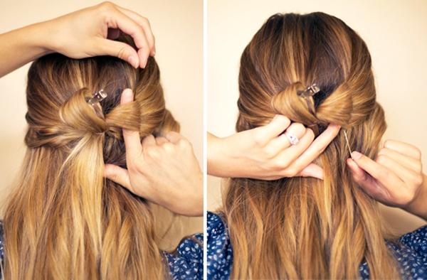 slika 428 Sama svoj frizer: Mašna od kose