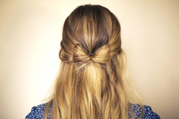 slika 530 Sama svoj frizer: Mašna od kose