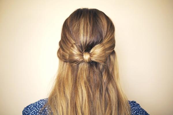 slika 722 Sama svoj frizer: Mašna od kose
