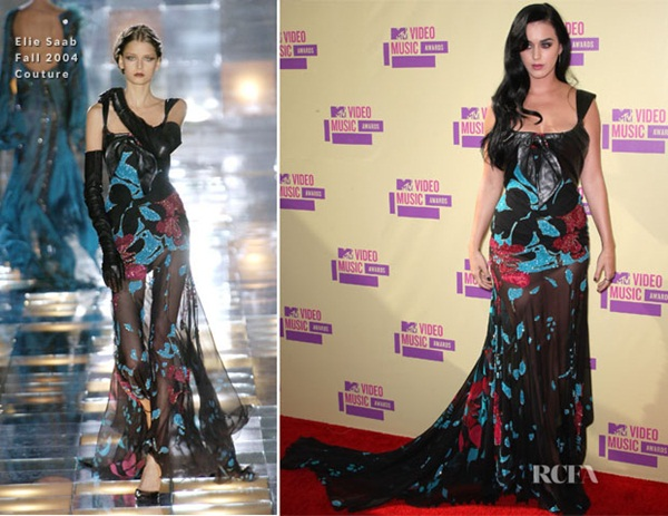 Katy Perry In Elie Saab Couture 2012 MTV Video Music Awards Fashion Police: Video Music Awards