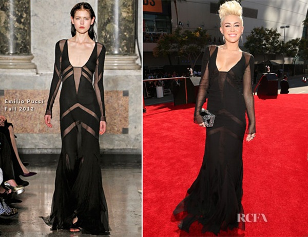 Miley Cyrus In Emilio Pucci 2012 MTV Video Music Awards Fashion Police: Video Music Awards