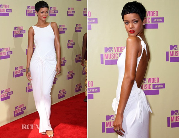 Rihanna In Adam Selman 2012 MTV Video Music Awards Fashion Police: Video Music Awards