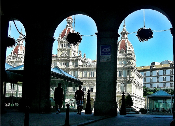 Slika 136 Trk na trg: Plaza Maria Pita, A Coruña