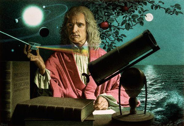 Slika 210 Ljudi koji su pomerali granice: Isaac Newton