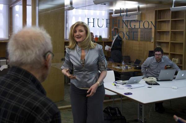 Slika 3 Arijana u Huffington Postu Stil moćnih ljudi: Arianna Huffington, posle svakog pada moramo da ustanemo