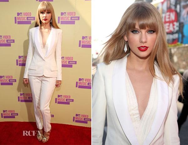 Taylor Swift In J Mendel 2012 MTV Video Music Awards Fashion Police: Video Music Awards