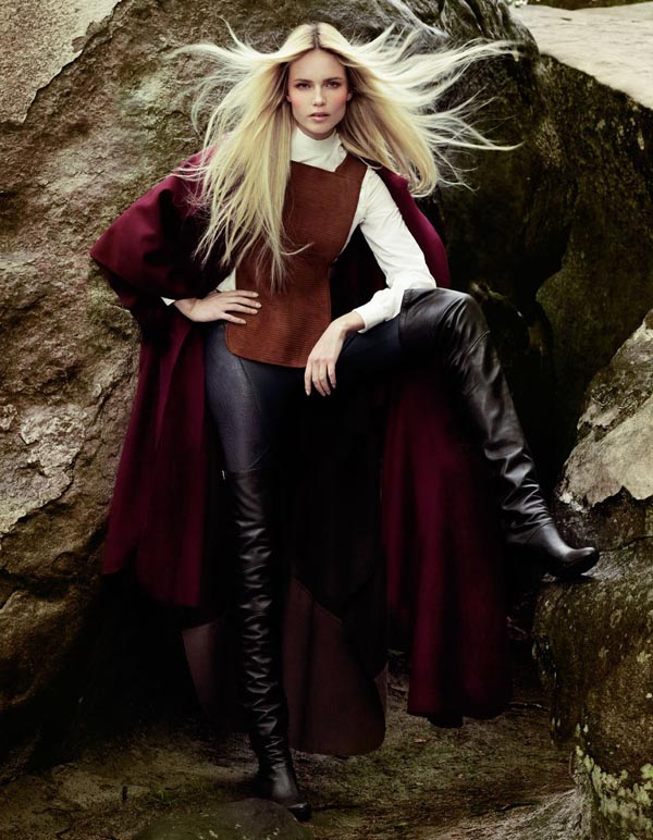 natashacover1 Vogue Turkey: Natasha Poly i jesenja priča
