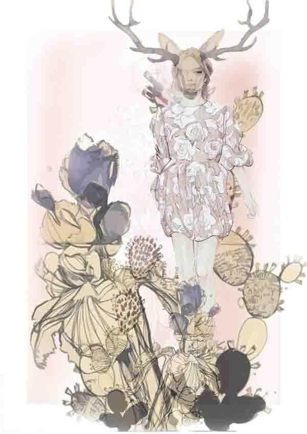 print ilustracija2 Nevena Ivanović: Modna ilustracija kao strast