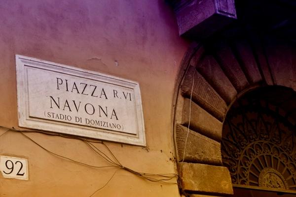 slika 338 Trk na trg: Piazza Navona, Rim