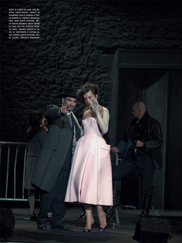 """slika 516 """"Vogue Italia"""": Milla Jovovich kao glamurozna politička aktivistkinja"""