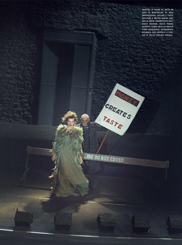 """slika 616 """"Vogue Italia"""": Milla Jovovich kao glamurozna politička aktivistkinja"""