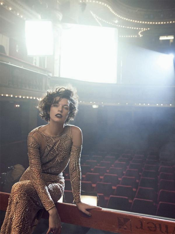 """slika 814 """"Vogue Italia"""": Milla Jovovich kao glamurozna politička aktivistkinja"""