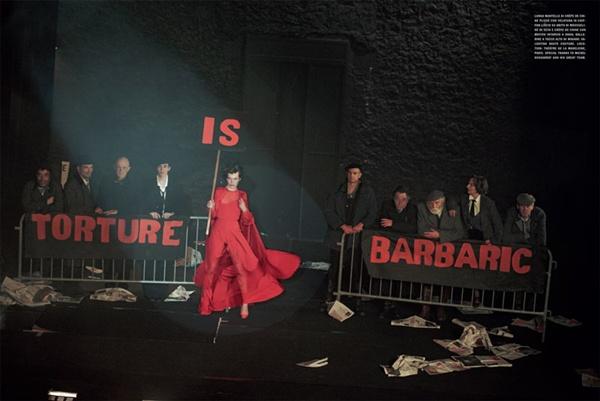 """slika 910 """"Vogue Italia"""": Milla Jovovich kao glamurozna politička aktivistkinja"""