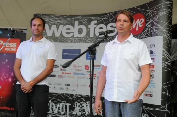 srdjan erceg i predrag lesic otvaraju webfest Svečano otvoren Web Fest .ME 2012