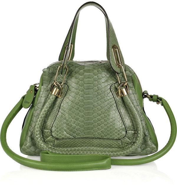 1. Ko na torba Chloe Zeleno, volim te zeleno: Moderne torbe za jesen