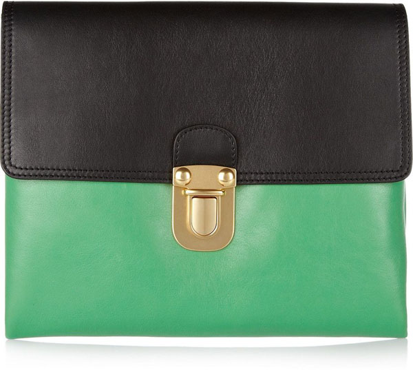 4. Clutch u dve boje Zeleno, volim te zeleno: Moderne torbe za jesen
