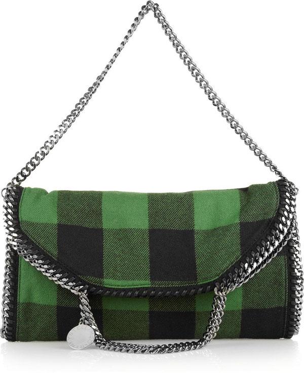 5. Karirana vunena ta na Zeleno, volim te zeleno: Moderne torbe za jesen