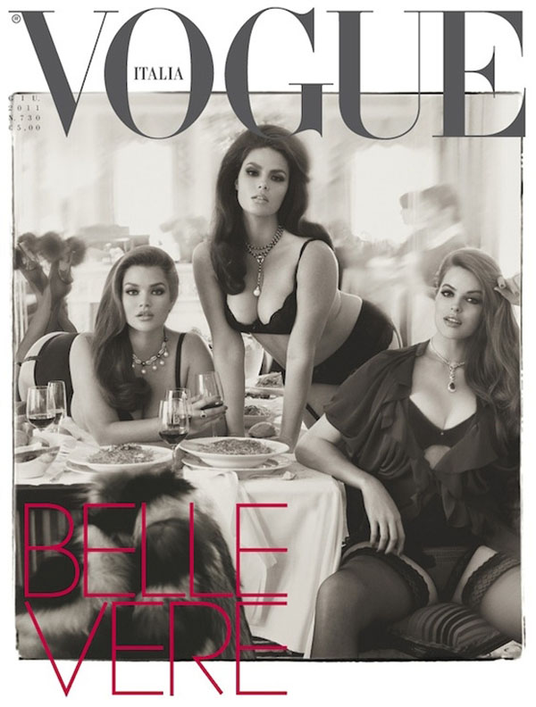 "Slika 3 Hips and Curves na naslovnici italijanskog Vogue a jun 2011 Stil moćnih ljudi: Rebecca Jenings ""Mrdni klikere, kukove i obline"""