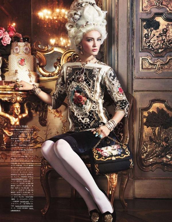 "slika 19 ""Vogue Japan"": Rokenrol Marie Antoinette"