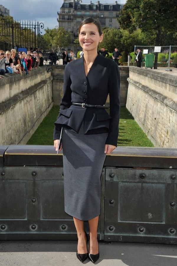 slika 323 Prvi red na reviji modne kuće Dior