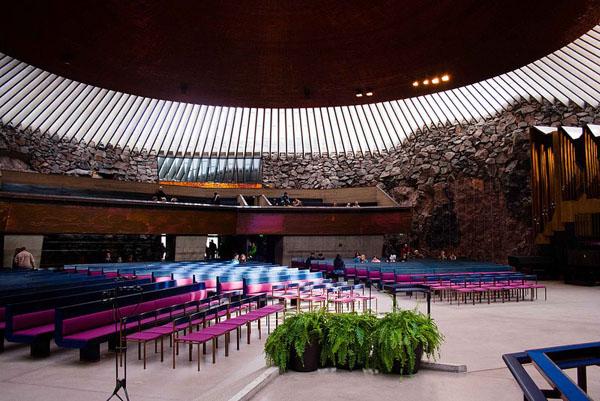 Akusticna dvorana Hram roka u Helsinkiju