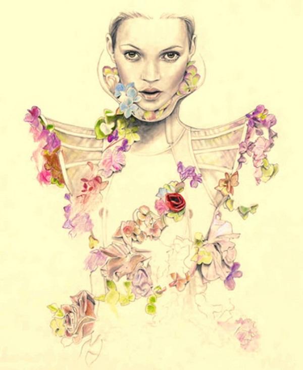 Slika 174 Cédric Rivrain: Bajkovite modne ilustracije