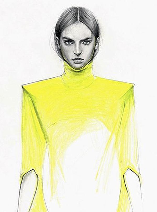 Slika 253 Cédric Rivrain: Bajkovite modne ilustracije
