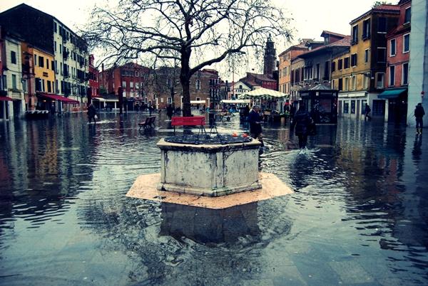 Slika 318 Trk na trg: Campo Santa Margherita, Venecija