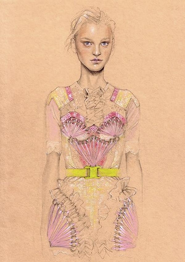 Slika 342 Cédric Rivrain: Bajkovite modne ilustracije