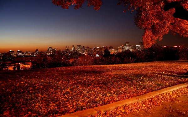 Slika 343 Jesen u gradu