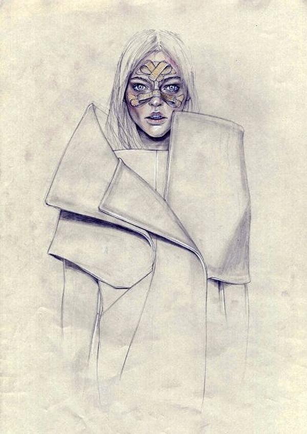 Slika 434 Cédric Rivrain: Bajkovite modne ilustracije
