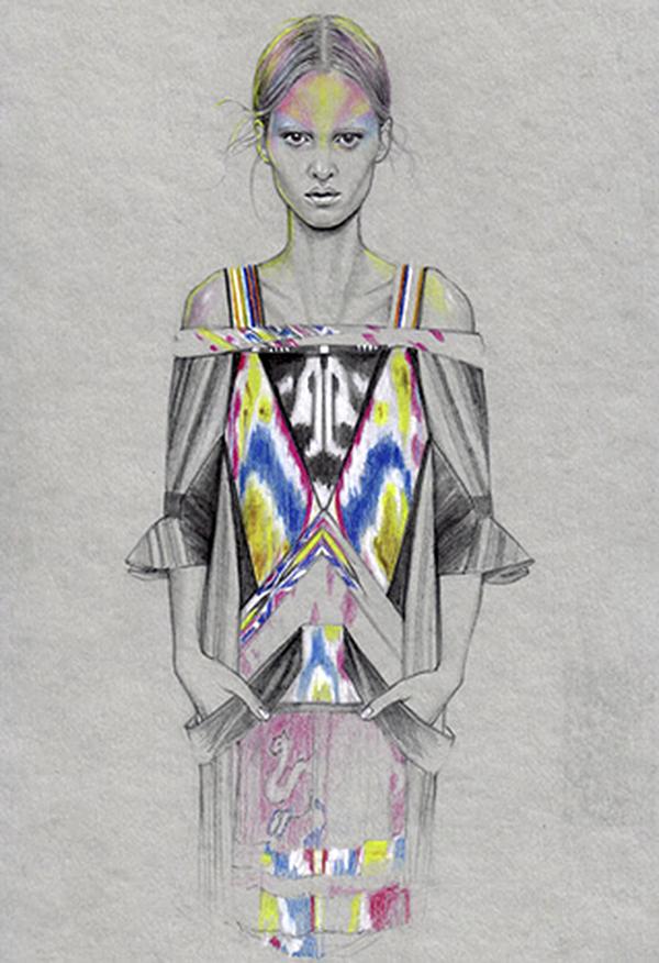 Slika 623 Cédric Rivrain: Bajkovite modne ilustracije