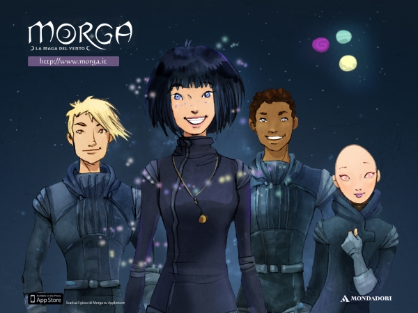 "Slika 7 Prijateljstvo uvek pobe uje Morga i njeni prijatelji Jari Horp i Drima Čitajte deci: ""Morga – La maga del vento"""