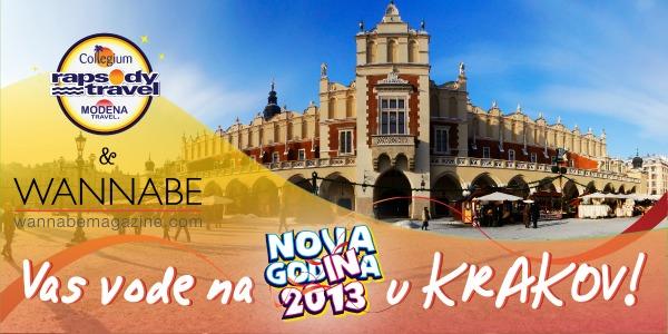 WANNABE BANER 1 0112 Wannabe Magazine & Rapsody Travel vode vas na doček 2013. u Krakov: 22. novembar