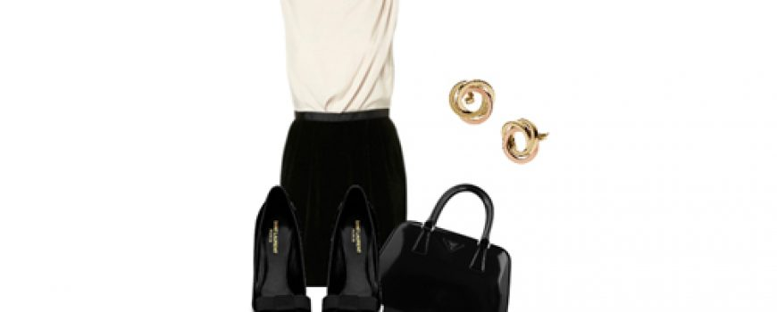 Look of the Day: Crna i bela