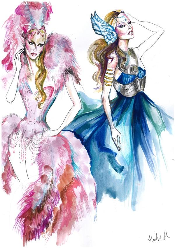 slika 148 Divlje dive i pop ikone u ilustracijama dizajnera Marka Marosiuka