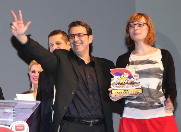 NAJ REKLAMA U SRBIJI U 2011 Sastanak sa Srecom Lutrije Srbije dobitnici Dejan Nedic i Senka Pajic agencija DRAFT FCB AFIRMA1 Noć Reklamoždera 2012.
