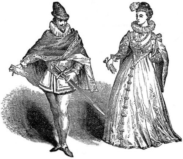 Slika 340 Istorija mode: Elizabetanska era
