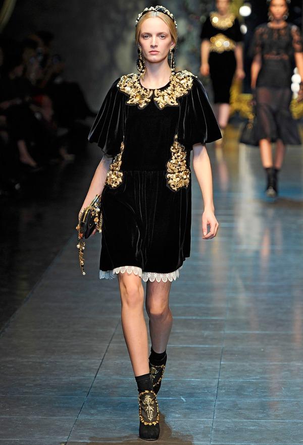 Slika 354 Jesen i zima na modnim pistama: Dolce&Gabbana