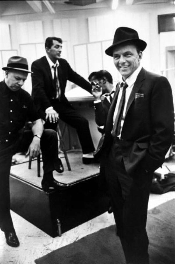 Slika 4.1 Rat Pack: Dean Martin, Frank Sinatra i ostala družina