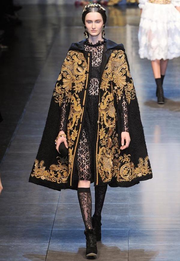 Slika 539 Jesen i zima na modnim pistama: Dolce&Gabbana