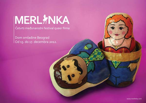 "plakat horizontalan Četvrti Međunarodni festival queer filma ""Merlinka"""