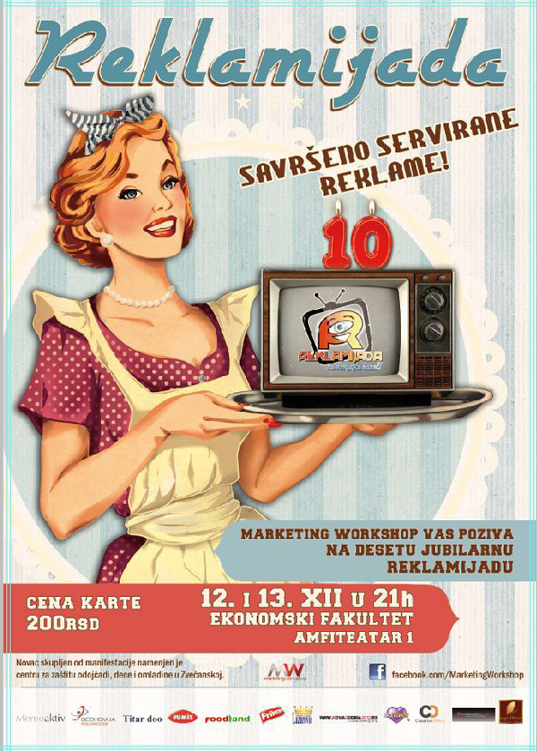 plakat reklamijada Jubilarna deseta Reklamijada